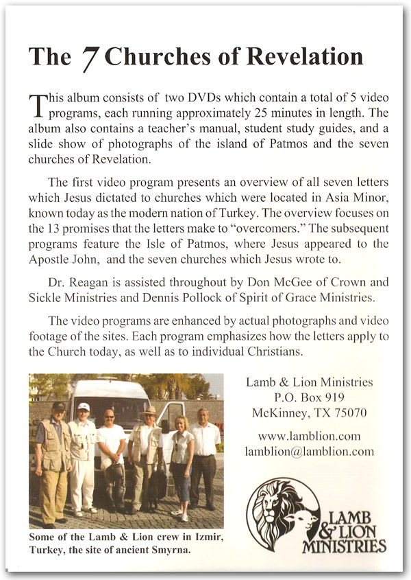 The 7 Churches of Revelation DVD Back