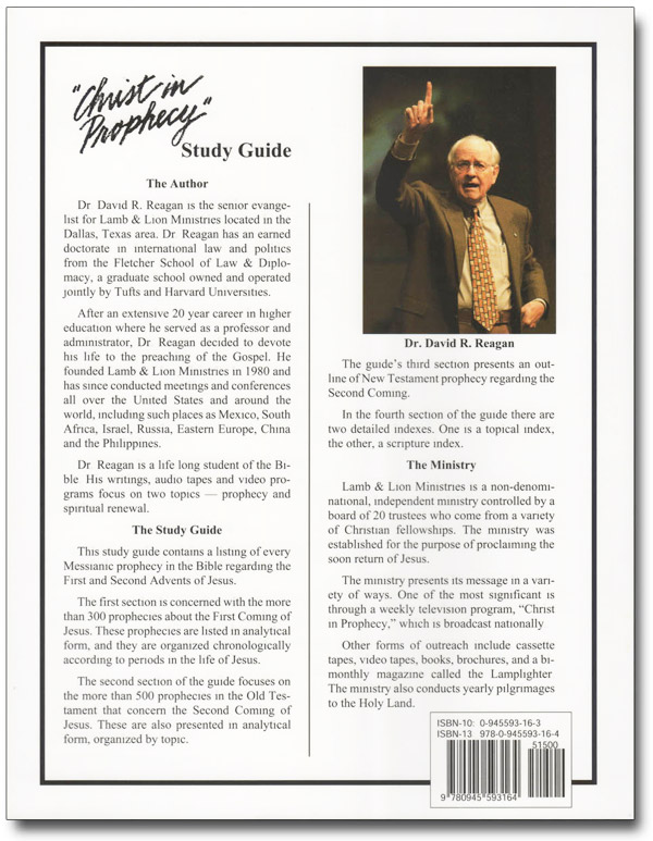 The Christ in Prophecy Study Guide Book Back