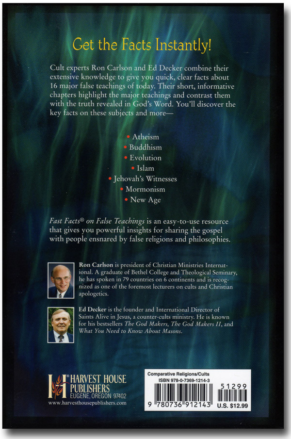 Fast Facts on False Teachings Book Back
