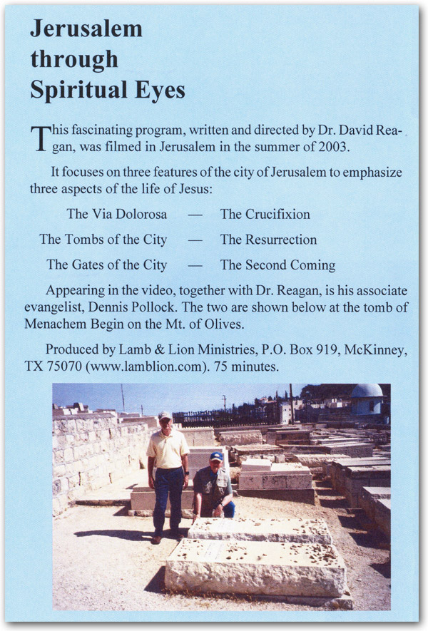 Jerusalem Through Spiritual Eyes DVD Back