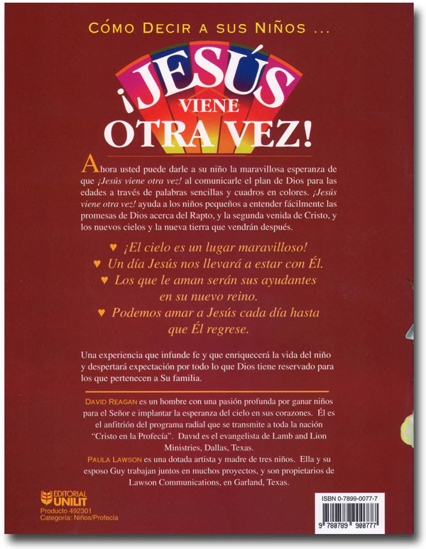Jesus is Coming Again! (Spanish) Book Back