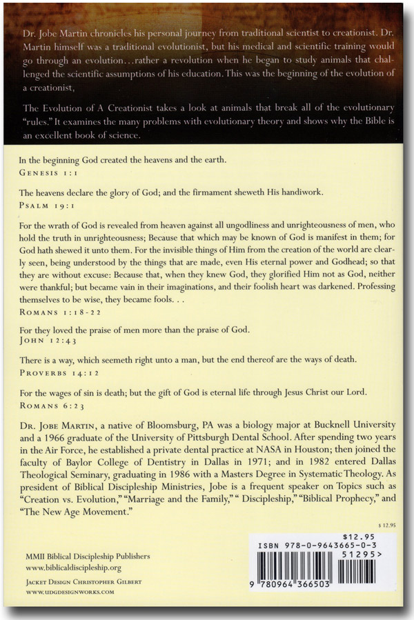 The Evolution of a Creationist Book Back