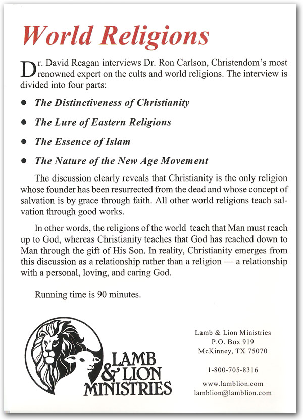 World Religions DVD Back
