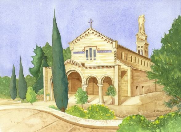 Church of the Ark of the Covenant Watercolor