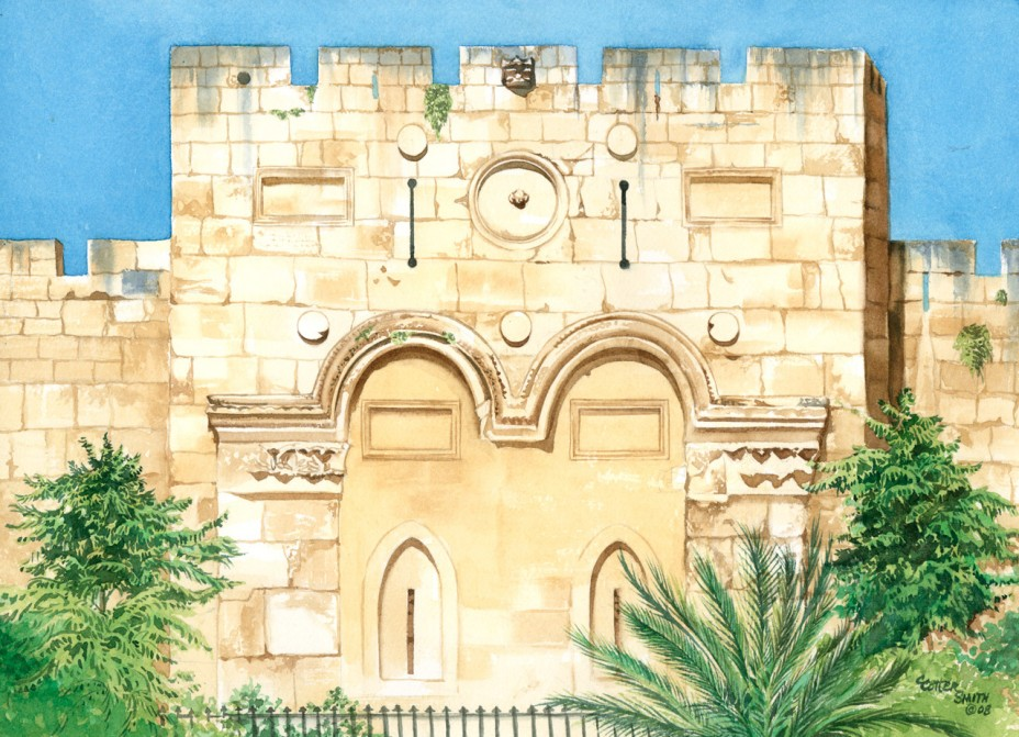 The Eastern Gate Watercolor