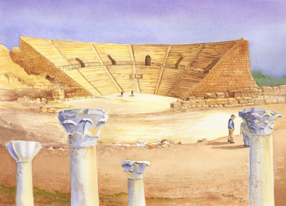 Roman Theater Watercolor