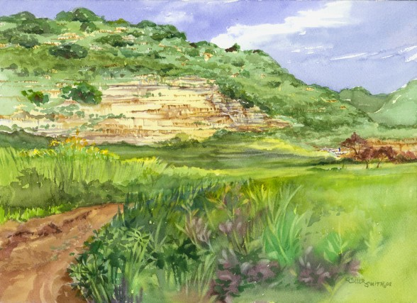 The Valley of Elah Watercolor
