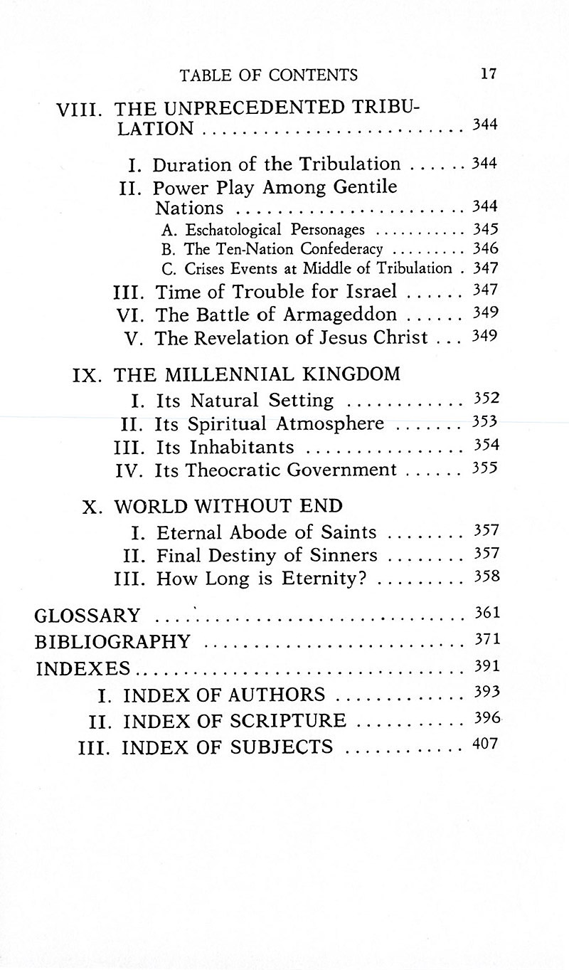 The Interpretation of Prophecy Table 17