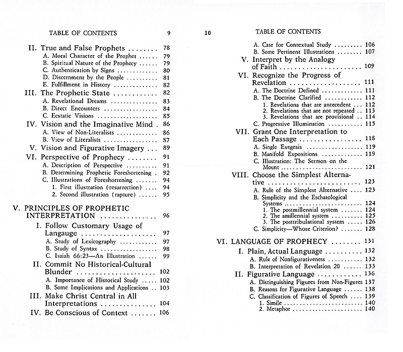 The Interpretation of Prophecy Table 9-10