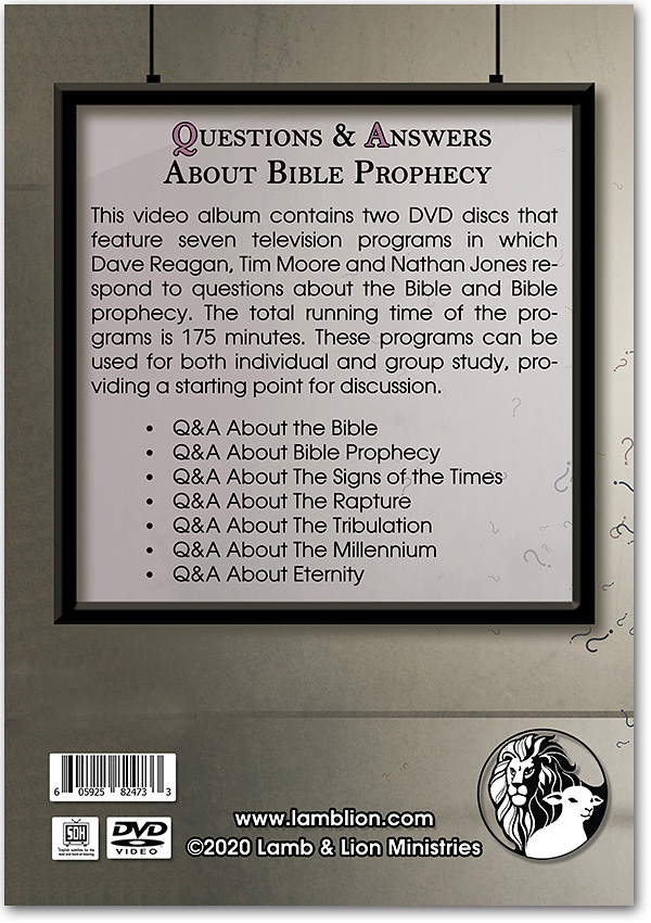 Questions and Answers about Bible Prophecy back